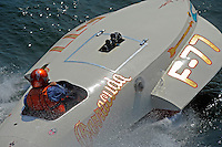 "Tim Settle, F-77 ""Barracuda"", 266 class Wickins hydroplane"