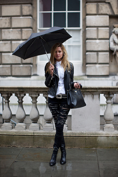 Agne Motiejunaite from Made in Chelsea at London Fashion Week