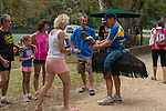 Cassowary Fun Run with the community of Far North Queensland coming together for awareness of how cassowaries are under threat from vehicular accidents.