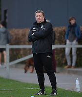 20150428 - VARSENARE , BELGIUM : Brugge's coach Dieter Lauwers  pictured during the soccer match between the women teams of Club Brugge Vrouwen and Standard de Liege Femina , on the 24th matchday of the BeNeleague competition Tuesday 28 th April 2015 in Varsenare . PHOTO DAVID CATRY