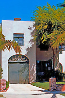 Irving Gill: Teats Cottage #2, 3415 Albatross, San Diego. 1912. Photo '76.