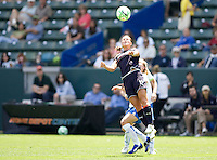 LA Sol's Brittany Bock heads a ball. The Boston Breakers and LA Sol played to a 0-0 draw at Home Depot Center stadium in Carson, California on Sunday May 10, 2009.   .