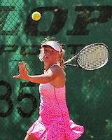 Netherlands, Dordrecht, August 03, 2015, Tennis,  National Junior Championships, NJK, TV Dash 35, Pleun Kramer<br /> Photo: Tennisimages/Henk Koster