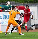 Stirling's Phil Johnston scores their fourth goal.