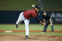 Birmingham Barons starting pitcher Blake Battenfield (22) delivers a pitch to the plate against the Mississippi Braves at Regions Field on August 3, 2021, in Birmingham, Alabama. (Brian Westerholt/Four Seam Images)