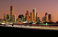 Skyline; city; office buildings;. Houston Texas.