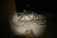 CHINA. Beijing. An abandoned bicycle in the street. 2008