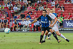 FC Internazionale Forward Eder Citadin Martins (L) fights for the ball with Bayern Munich Defender Felix Gotze (R) during the International Champions Cup match between FC Bayern and FC Internazionale at National Stadium on July 27, 2017 in Singapore. Photo by Marcio Rodrigo Machado / Power Sport Images