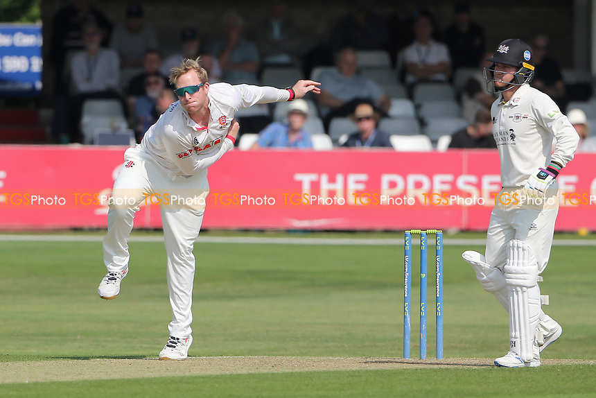 Simon Harmer in bowling action for Essex during Essex CCC vs Gloucestershire CCC, LV Insurance County Championship Division 2 Cricket at The Cloudfm County Ground on 5th September 2021