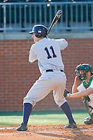 Tommy Monnot (11) of the Kent State Golden Flashes at bat against the Charlotte 49ers at Robert and Mariam Hayes Stadium on March 8, 2013 in Charlotte, North Carolina.  The 49ers defeated the Golden Flashes 5-4.  (Brian Westerholt/Four Seam Images)