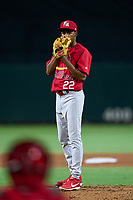 Palm Beach Cardinals pitcher Inohan Paniagua (22) during a game against the Jupiter Hammerheads on May 11, 2021 at Roger Dean Chevrolet Stadium in Jupiter, Florida.  (Mike Janes/Four Seam Images)