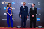Boris Becker and his wife Sharlely, Robbie Fowler walk the Red Carpet event at the World Celebrity Pro-Am 2016 Mission Hills China Golf Tournament on 20 October 2016, in Haikou, China. Photo by Marcio Machado / Power Sport Images