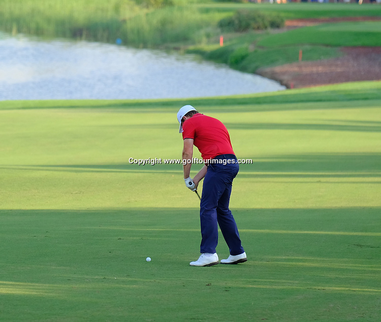 Tyrrell HATTON (ENG) during round one of the 2016 DP World Tour Championships played over the Earth Course at Jumeirah Golf Estates, Dubai, UAE: Picture Stuart Adams, www.golftourimages.com: 11/17/16