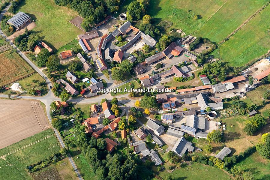 Gross Sachau: EUROPA, DEUTSCHLAND,  NIEDERSACHSEN (EUROPE, GERMANY), 28.09.2021: Groß Sachau ist ein Ortsteil der Gemeinde Clenze im niedersächsischen Landkreis Lüchow-Dannenberg. Das Dorf liegt drei Kilometer nordöstlich vom Kernbereich von Clenze und südlich der B 493 und ist ein Rundlingsdorf.