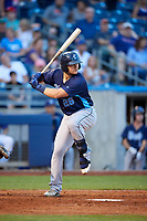 Corpus Christi Hooks third baseman J.D. Davis (26) at bat during a game against the Tulsa Drillers on June 3, 2017 at ONEOK Field in Tulsa, Oklahoma.  Corpus Christi defeated Tulsa 5-3.  (Mike Janes/Four Seam Images)