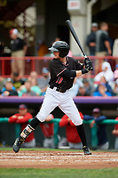 Erie SeaWolves designated hitter Danny Woodrow (10) at bat during a game against the New Hampshire Fisher Cats on June 20, 2018 at UPMC Park in Erie, Pennsylvania.  New Hampshire defeated Erie 10-9.  (Mike Janes/Four Seam Images)