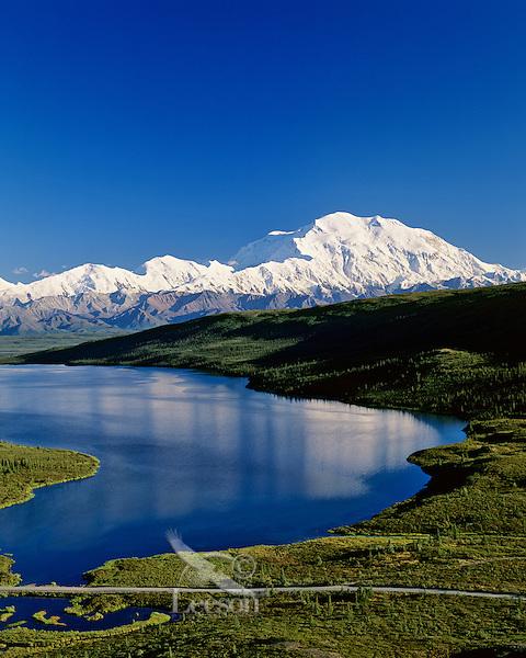 Mount McKinley and Wonder Lake, Denali National Park, Alaska.