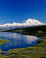 Mount McKinley and Wonder Lake, Denali National Park, Alaska.