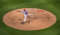 6 April 2015: Washington Nationals starting pitcher Max Scherzer on the mound during the Home Opening Game against the New York Mets at Nationals Park in Washington, DC. The Mets rallied to defeat the Nationals 3-1 in their first meeting of the 2015 MLB season. Mandatory Credit: Ed Wolfstein Photo *** RAW (NEF) Image File Available ***