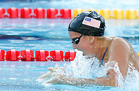 Rebecca Soni of the United States swims to set a world record clocking 1.04.84 during a women's 100 meters breaststroke semifinal at the Swimming World Championships in Rome, 27 July 2009..UPDATE IMAGES PRESS/Riccardo De Luca