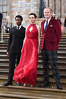 """Kedar Williams-Stirling, Emma Mackey and Alistair Petrie<br /> arriving for the world premiere of """"Our Planet"""" at the Natural History Museum, London<br /> <br /> ©Ash Knotek  D3491  04/04/2019"""