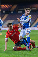 Blackburn Rovers' Joe Rothwell (right) battles with Luton Town's Matty Pearson (left) <br /> <br /> Photographer David Horton/CameraSport<br /> <br /> The EFL Sky Bet Championship - Luton Town v Blackburn Rovers - Saturday 21st November 2020 - Kenilworth Road - Luton<br /> <br /> World Copyright © 2020 CameraSport. All rights reserved. 43 Linden Ave. Countesthorpe. Leicester. England. LE8 5PG - Tel: +44 (0) 116 277 4147 - admin@camerasport.com - www.camerasport.com