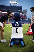 CHAMP the robotVW robot Champ tours the field in Nashville before the USA v Canada game.