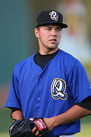 May 14 2009: Eddie McKiernan of the Rancho Cucamonga Quakes before game against the High Desert Mavericks at The Epicenter in Rancho Cucamonga,CA.  Photo by Larry Goren/Four Seam Images