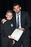 St Johnstone FC Youth Academy Presentation Night at Perth Concert Hall..21.04.14<br /> Callum Davidson presents to Cameron Fraser<br /> Picture by Graeme Hart.<br /> Copyright Perthshire Picture Agency<br /> Tel: 01738 623350  Mobile: 07990 594431