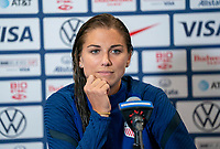 ORLANDO, FL - FEBRUARY 24: Alex Morgan #13 of the USWNT talks to the media on Zoom during a game between Argentina and USWNT at Exploria Stadium on February 24, 2021 in Orlando, Florida.