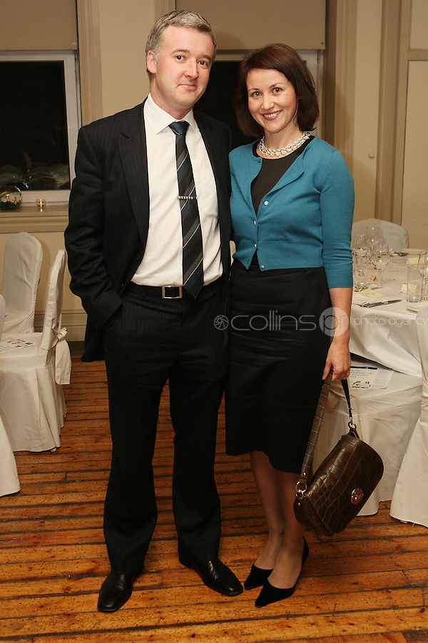 NO REPRO FEE. 23/11/2010. ICCL annual fundraising dinner. Pictured at Fallon and Byrnes, Dublin for the ICCL's fundraising dinner for legal practitioners were Liam Herrick and Nessa Cahil . Picture James Horan/Collins Photos