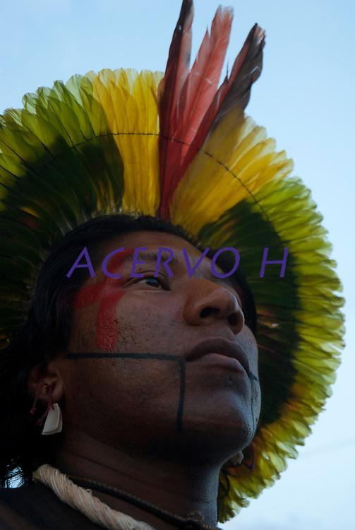 Kaiapó.<br /> <br /> Os Jogos dos Povos Indígenas (JPI) chegam a sua décima edição. Neste ano 2009, que acontecem entre os dias 31 de outubro e 07 de novembro. A data escolhida obedece ao calendário lunar indígena. com participação  cerca de 1300 indígenas, de aproximadamente 35 etnias, vindas de todas as regiões brasileiras. <br /> Paragominas , Pará, Brasil.<br /> Foto Paulo Santos<br /> 04/11/2009