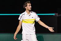 Rotterdam, The Netherlands, 3 march  2021, ABNAMRO World Tennis Tournament, Ahoy, First round match: Danill Medvedev.<br /> Photo: www.tennisimages.com/henkkoster
