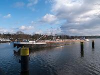Tankschiff Dettmer Tank 48, Elbe bei Geesthacht, Schleswig-Holstein, Deutschland <br /> tanker  Dettmer Tank 48, River Elbe near Geesthacht, Schleswig-Holstein, Germany