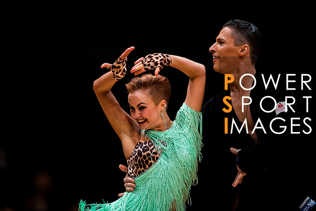 Marius-Andrei Balan and Nina Bezzubova of Germany during the Day 1 of the WDSF GrandSlam Hong Kong 2014 on May 31, 2014 at the Queen Elizabeth Stadium Arena in Hong Kong, China. Photo by AItor Alcalde / Power Sport Images