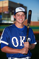 Oklahoma City Dodgers shortstop Corey Seager (18) poses for a photo before a game against the Fresno Grizzles on June 1, 2015 at Chickasaw Bricktown Ballpark in Oklahoma City, Oklahoma.  Fresno defeated Oklahoma City 14-1.  (Mike Janes/Four Seam Images)