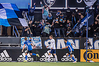 SAN JOSE, CA - MAY 01: Jackson Yueill #14 of the San Jose Earthquakes celebrates his goal during a game between San Jose Earthquakes and D.C. United at PayPal Park on May 01, 2021 in San Jose, California.