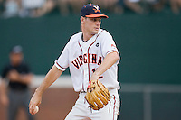 Corey Hunt #12 of the Virginia Cavaliers in action against the VCU Rams at the Charlottesville Regional of the 2010 College World Series at Davenport Field on June 4, 2010, in Charlottesville, Virginia.  The Cavaliers defeated the Rams 14-5.  Photo by Brian Westerholt / Four Seam Images