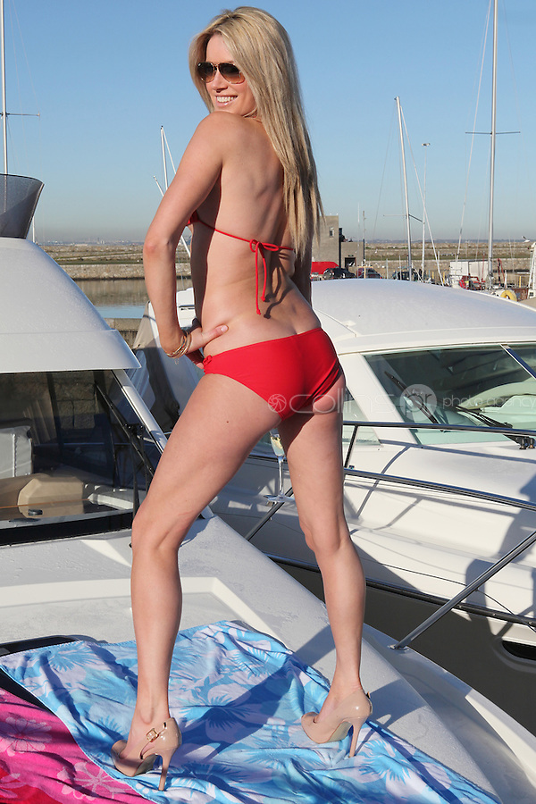NO REPRO FEE. 19/1/2011. Holiday World Show 2011 Cruise Holidays. Model Jenny Lee Masterson celebrates the upcoming Holiday World Show in the RDS Dublin on January 28th - 30th, Jenny is pictured on a boat at MGM Boat Sales,  Dun Laoghaire. The Holiday World Show Dublin 2011 will provide expert advice to those seeking a well earned escape from reality, with affordability being the keyword. Whether your dream holiday is roaming the globe, seeking the latest hip destination, just chilling out or taking it easy, Holiday World Show Dublin 2011 (www.holidayworldshow.com) at the RDS Simmonscourt. Picture James Horan/Collins Photos