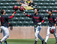 STANFORD, CA - JUNE 4: Kody Huff, Tim Tawa, Eddie Park during a game between North Dakota State and Stanford Baseball at Sunken Diamond on June 4, 2021 in Stanford, California.