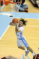 CHAPEL HILL, NC - FEBRUARY 1: Cole Anthony #2 of the University of North Carolina shoots the ball during a game between Boston College and North Carolina at Dean E. Smith Center on February 1, 2020 in Chapel Hill, North Carolina.
