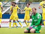 Inverness Caley Thistle v St Johnstone…27.08.16..  Tulloch Stadium  SPFL<br />Richie Foster celebrates his goal<br />Picture by Graeme Hart.<br />Copyright Perthshire Picture Agency<br />Tel: 01738 623350  Mobile: 07990 594431