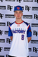 John Tyler Jimenez (8) of Half Hollow Hills West High School in Deer Park, New York during the Baseball Factory All-America Pre-Season Tournament, powered by Under Armour, on January 12, 2018 at Sloan Park Complex in Mesa, Arizona.  (Mike Janes/Four Seam Images)