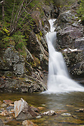 Gibbs Falls on Gibbs Brook in the New Hampshire White Mountains. This waterfall can be found just off the scenic Crawford Path, the oldest continuously used mountain trail in America.