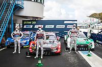 5th September 2020, Assen, Netherlands;  4 Robin Frijns NED, Audi Team Abt Sportsline, Audi RS 5 DTM, 28 Loc Duval FRA, Audi Sport Team Phoenix, Audi RS 5 DTM, 51 Nico Mueller SUI, Audi Sport Team Abt Sportsline, Audi RS 5 DTM, 2020 DTM Assen
