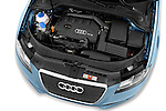 High angle engine detail of a 2003 - 2012 Audi A3 Attraction 2-Door Convertible.