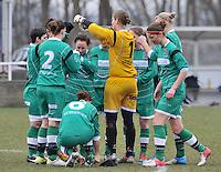 Club Brugge Dames - OHL Oud Heverlee Leuven : voor de wedstrijd bij de leuvense speelsters.foto DAVID CATRY / Vrouwenteam.be
