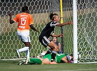 Lianne Sanderson, Sabbath McKiernan Allen, Robyn Jones.  The D.C. United Women defeated the Charlotte Lady Eagles, 3-0, to win the W-League Eastern Conference Championship.