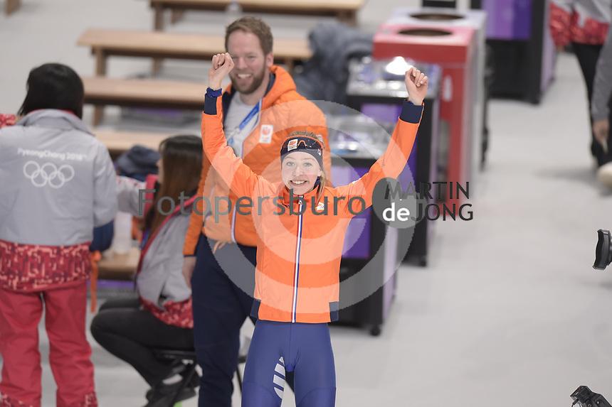 OLYMPIC GAMES: PYEONGCHANG: 16-02-2018, Gangneung Oval, Long Track, 5.000m Ladies, Esmee Visser (NED), ©photo Martin de Jong