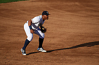 Kane County Cougars third baseman Eudy Ramos (19) during a game against the West Michigan Whitecaps on July 19, 2018 at Northwestern Medicine Field in Geneva, Illinois.  Kane County defeated West Michigan 8-5.  (Mike Janes/Four Seam Images)